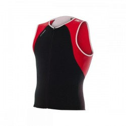 ZEROD Koszulka triathlonowa uSinglet Czerwona