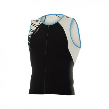 ZEROD Koszulka triathlonowa uSinglet ARMADA Błękitna