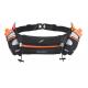 FITLETIC Pas biegowy z bidonami HYDRA 500ml czarno-pomarańczowy