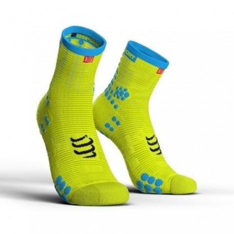 Compressport ProRacing Socks High V3.0 Fluo Żółte