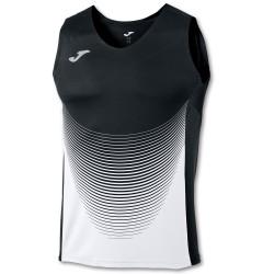 Joma Sleeveless T-Shirt Elite VI Black-White
