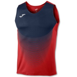 Joma Sleeveless T-Shirt Elite VI Red-Navy