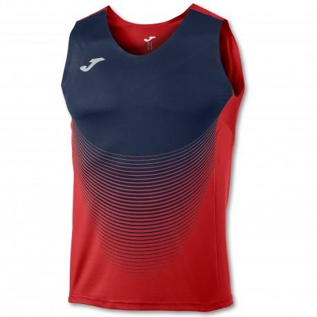 Joma Sleeveless T-Shirt Elite VI Red-Navy