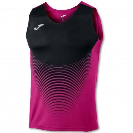 Joma Sleeveless T-Shirt Elite VI Pink-Black