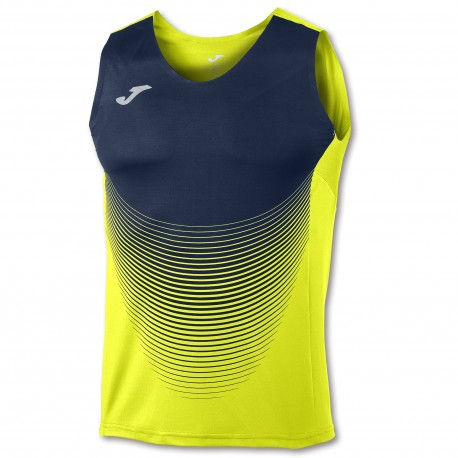Joma Sleeveless T-Shirt Elite VI Amarillo-Marino