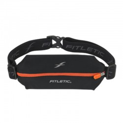 Fitletic Mini Sport Belt : BLK / ORG Zip